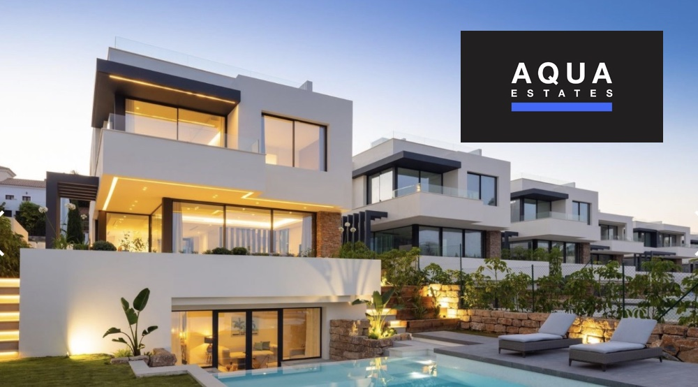 Aqua Estates estepona atalaya villa with logo