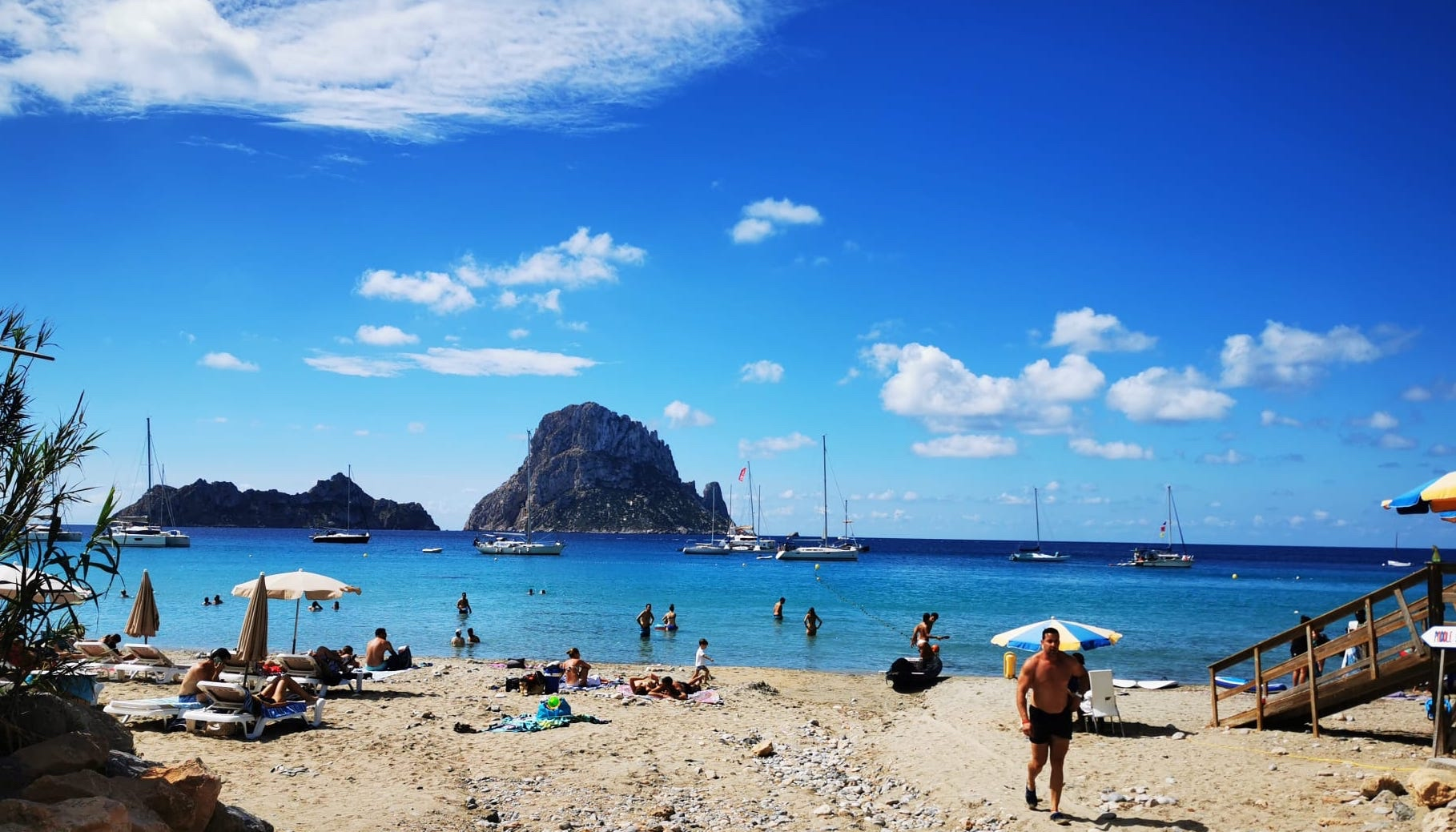 Ibiza Cala DHort by land